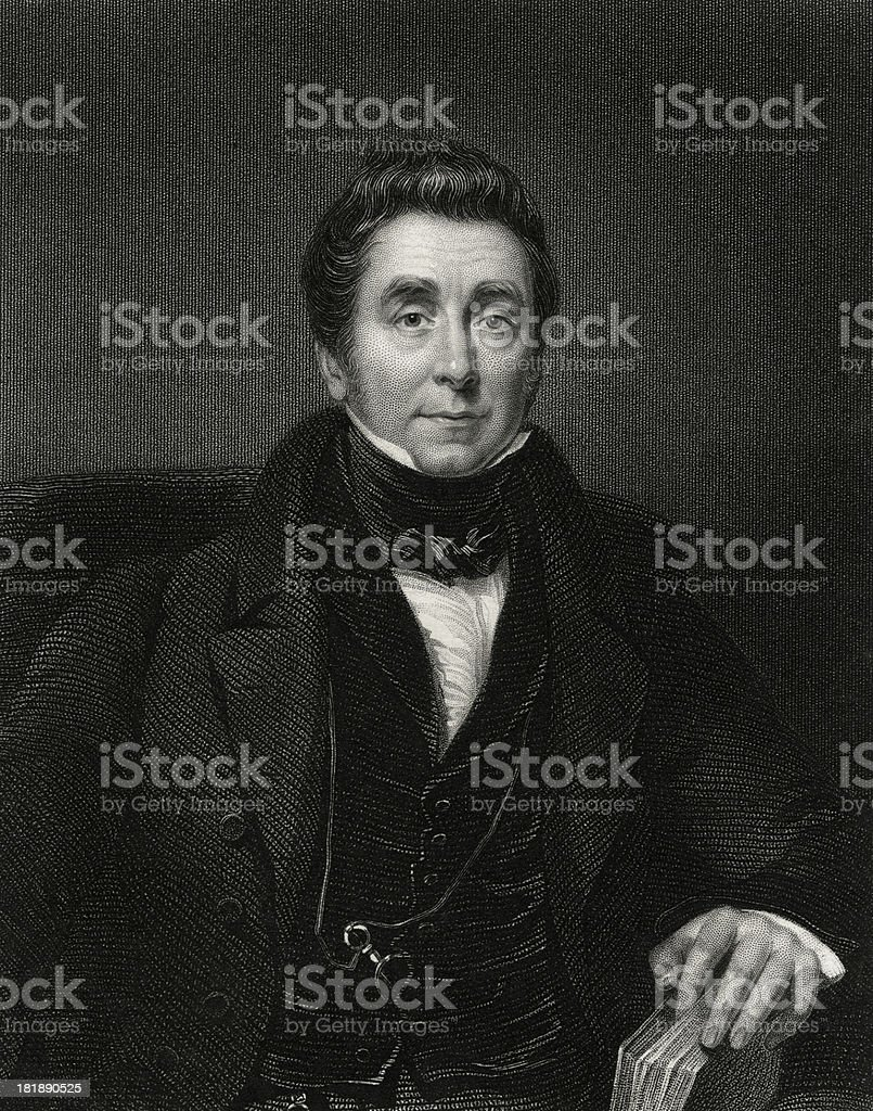 "James Johnson,British physician ""James Johnson (1777-1845) Engraved by W.Holl (1815-1884) from a painting by J.Wobd and published by the National Portrait Gallery in 1820.Digital restoration by Pictore.Very high resolution available.James Johson is a British physician and writer on diseases of tropical climates.Isaac Barrow,mathematician:"" Author stock illustration"