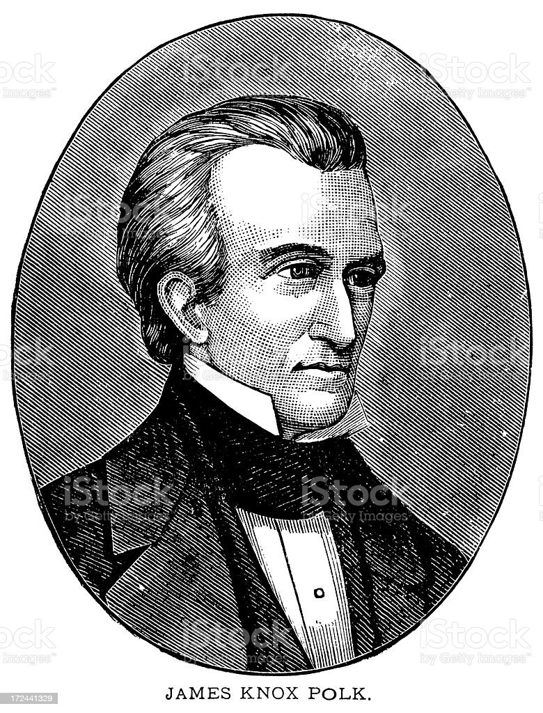 James Knox Polk royalty-free james knox polk stock vector art & more images of 19th century