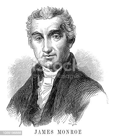 James Monroe - Scanned 1855 Engraving