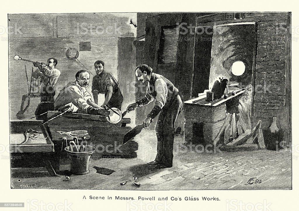 James Powell e Filhos (Whitefriars) de vidro - ilustração de arte em vetor
