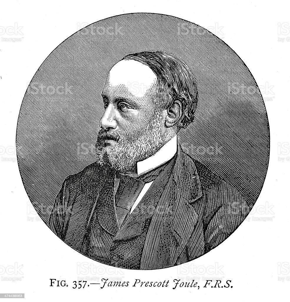 James Prescott Joule vector art illustration