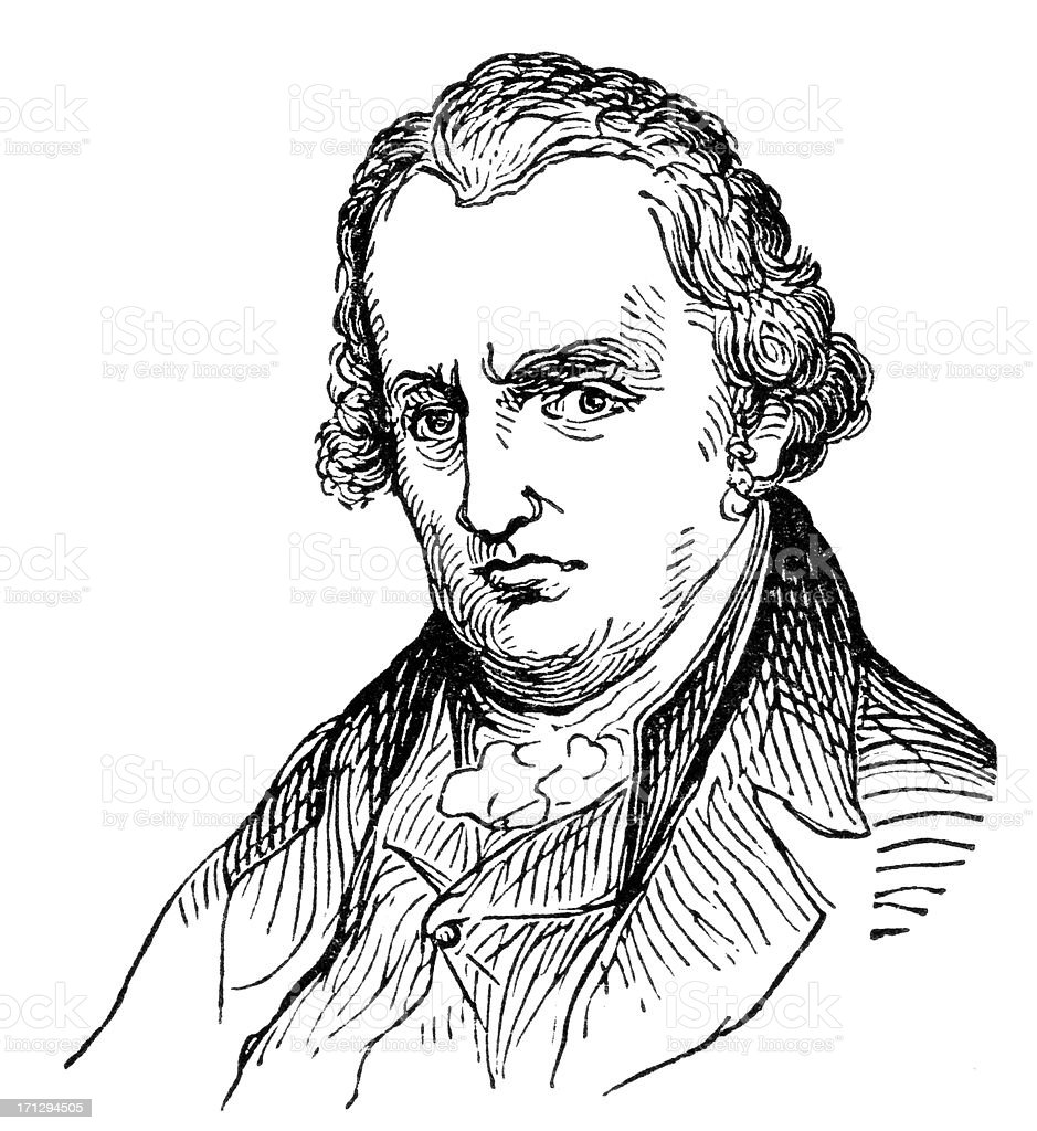 James Watt vector art illustration