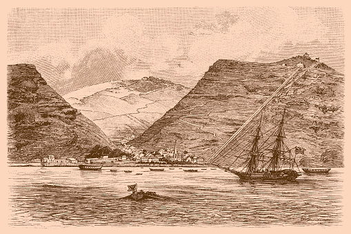 Illustration of a Jamestown, Saint Helena, British Overseas Territories