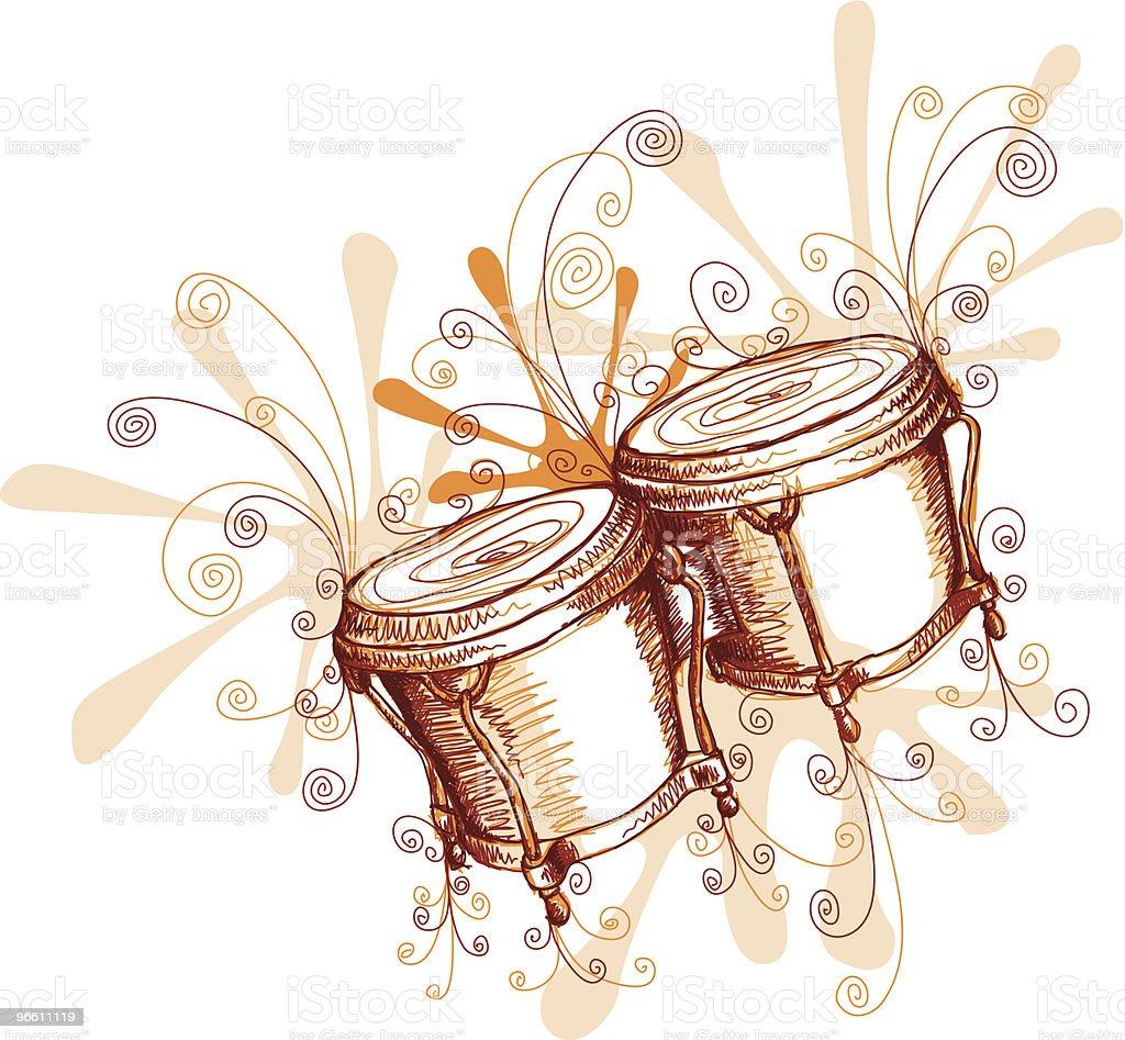 Jamming Bongos - Royalty-free African Culture stock vector