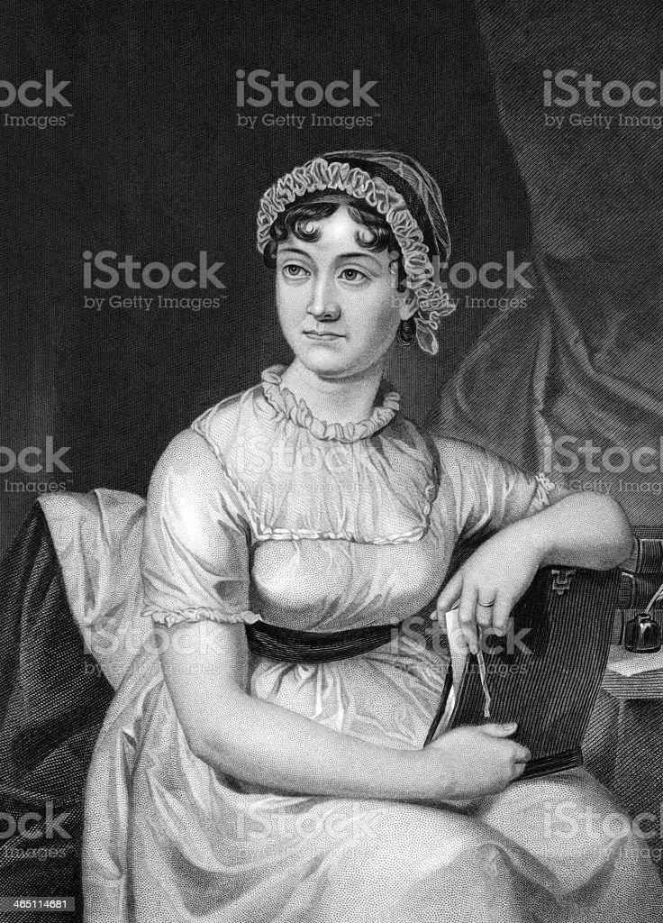 Jane Austen vector art illustration