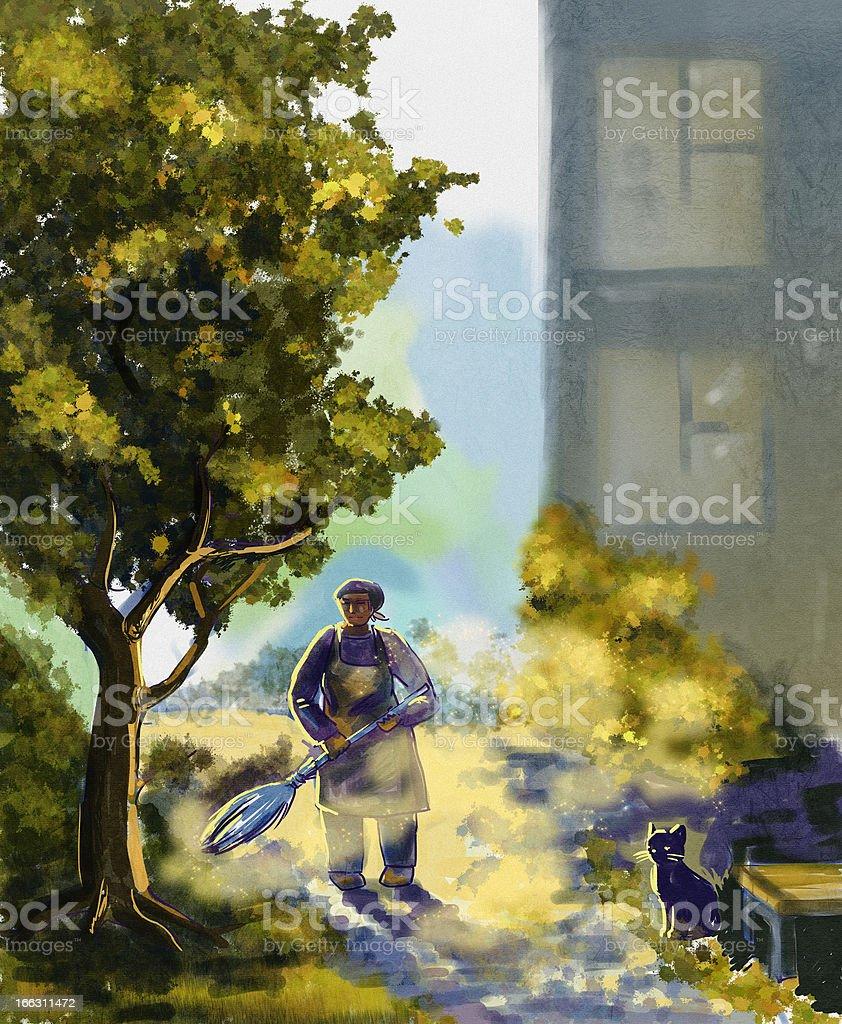 Janitor. Digital Illustration royalty-free janitor digital illustration stock vector art & more images of active seniors