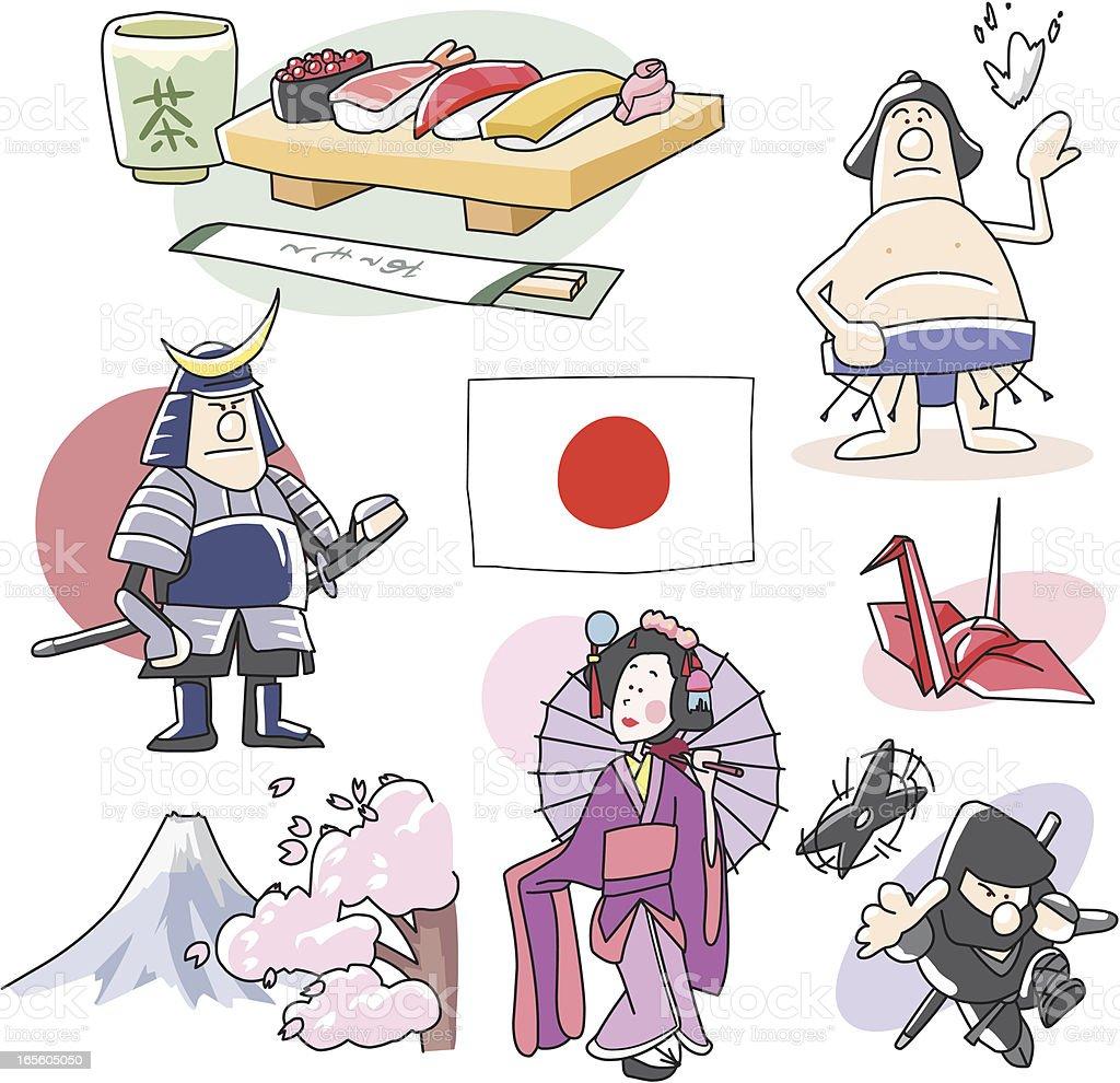Japan Clip arts royalty-free stock vector art