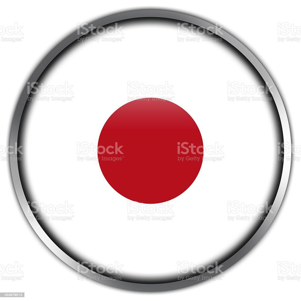Japan Flag glossy button royalty-free stock vector art
