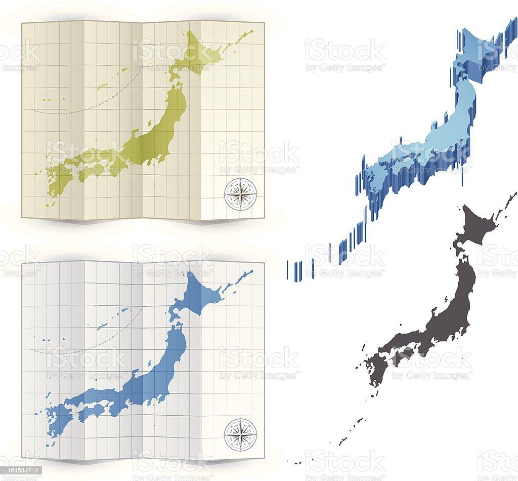 Japan map royalty-free stock vector art