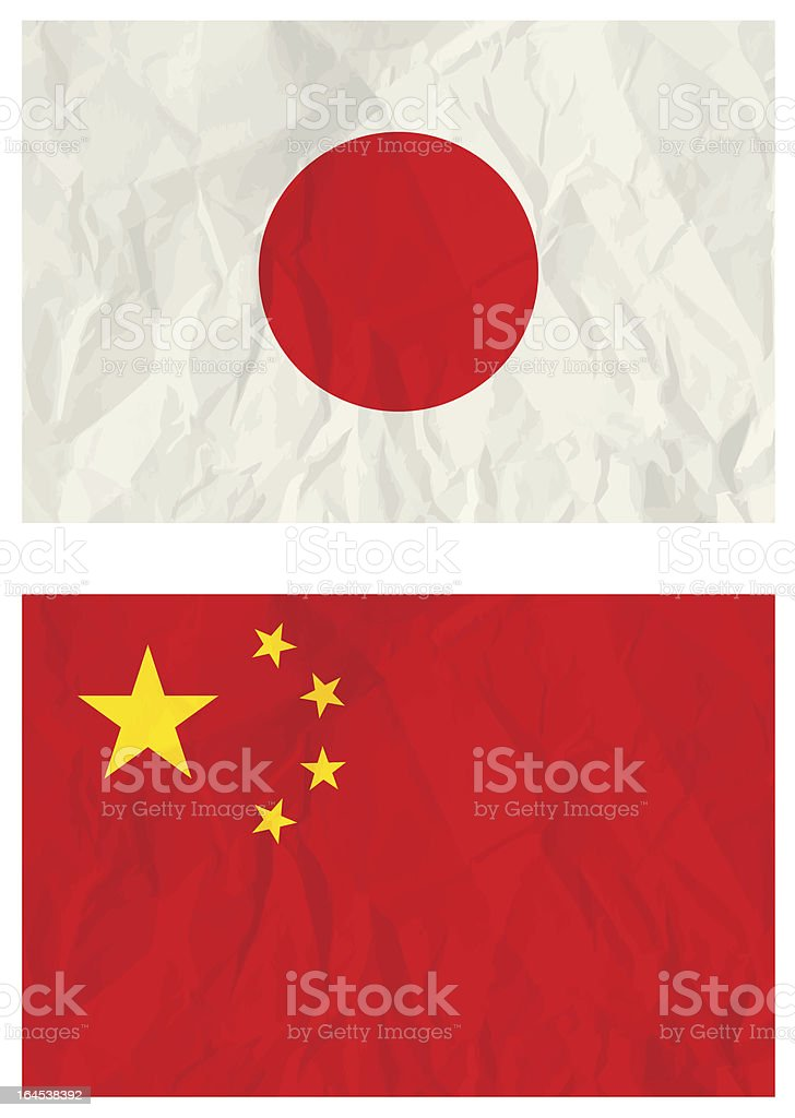 Japanese and China banners vector art illustration