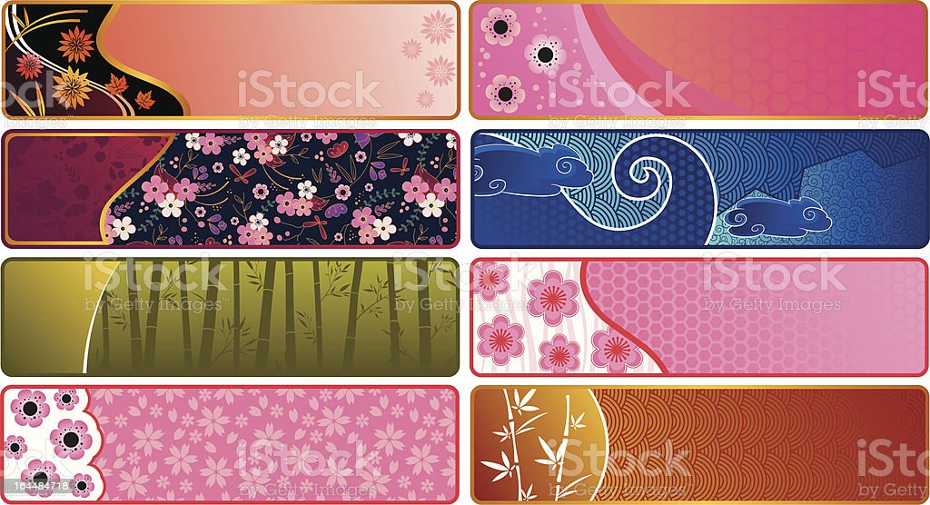 japanese banners royalty-free stock vector art