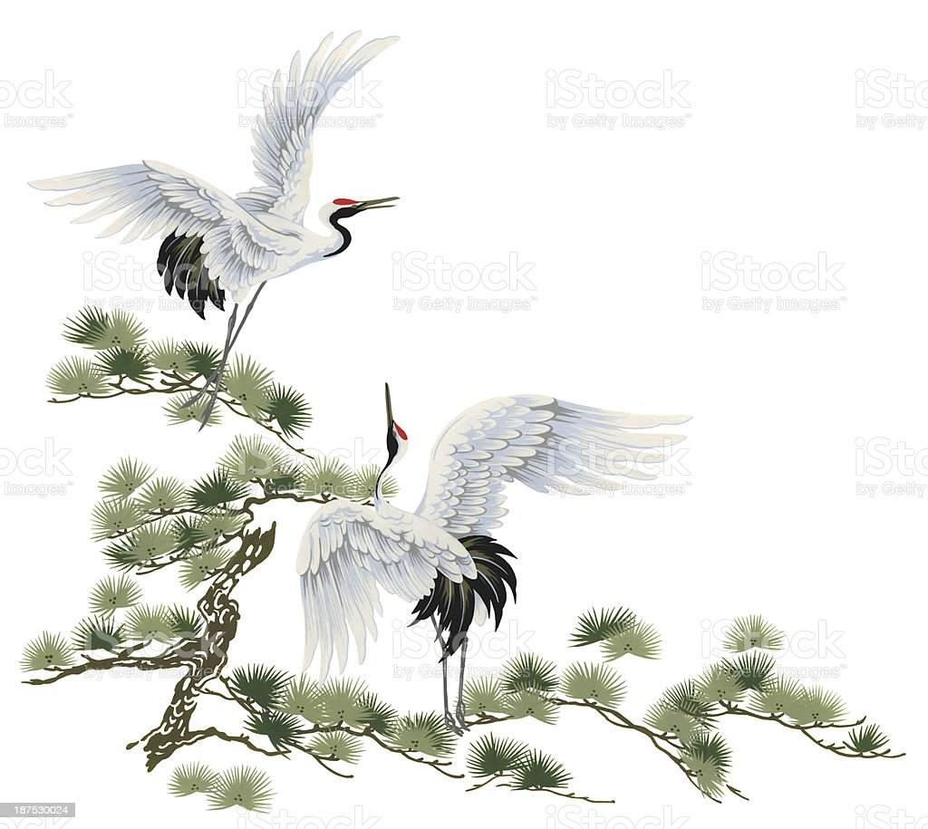 Japanese Crane Stock Vector Art & More Images of Animal ... - photo#13