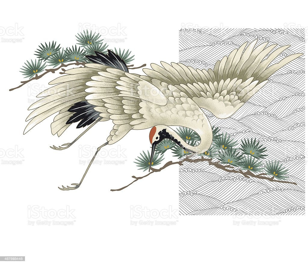 Japanese Crane Stock Vector Art & More Images of Animal ... - photo#22