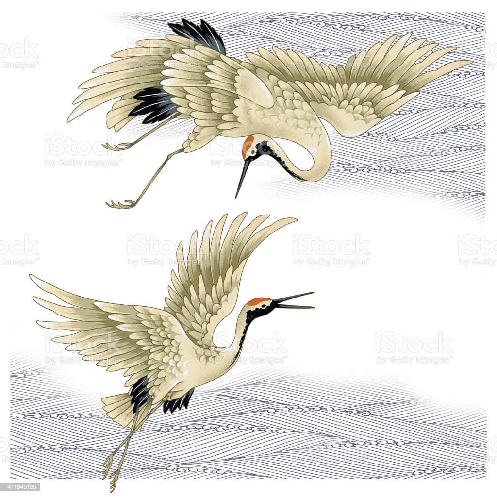 Japanese Crane Stock Vector Art & More Images of Animal ... - photo#14