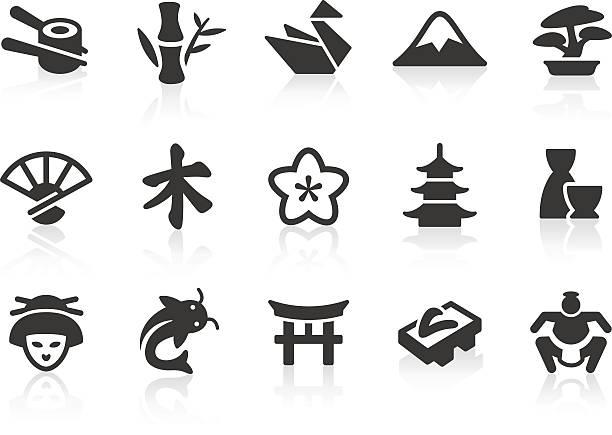 japanische kultur symbole - sumo stock-grafiken, -clipart, -cartoons und -symbole