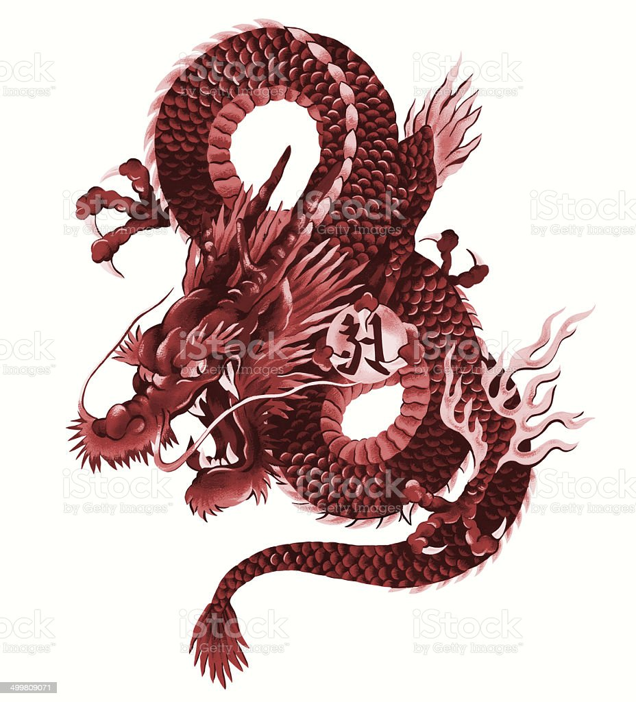Japanese Dragon Stock Illustration - Download Image Now - iStock