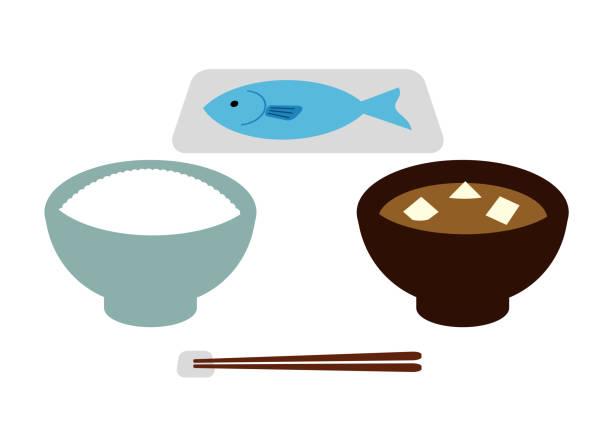 日本食セット - 和食点のイラスト素材/クリップアート素材/マンガ素材/アイコン素材