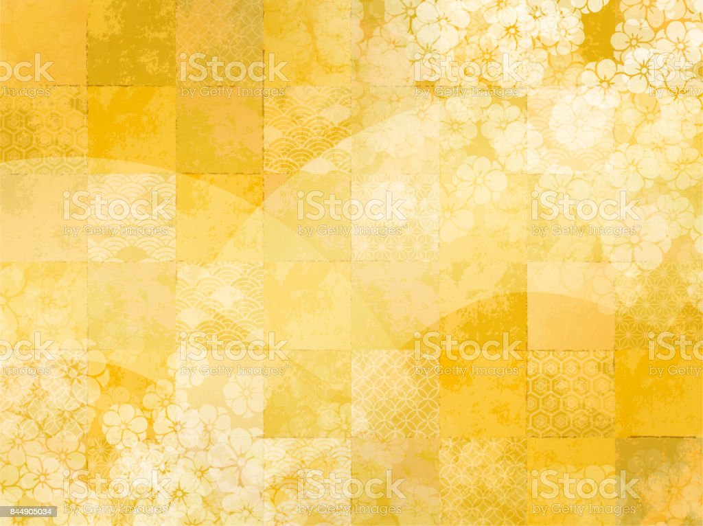 Japanese pattern background vector art illustration