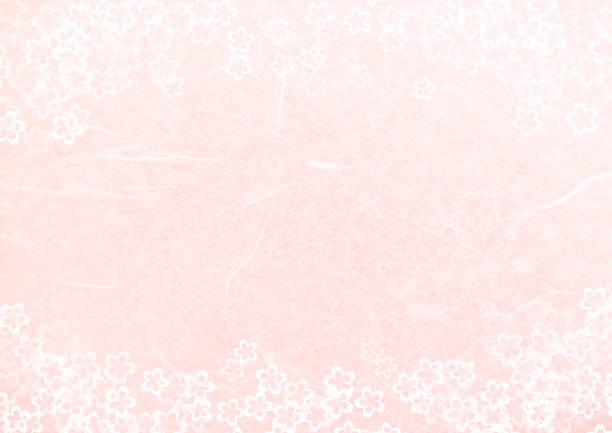 ilustrações de stock, clip art, desenhos animados e ícones de japanese pink paper texture background-cherry blossoms - cherry blossoms