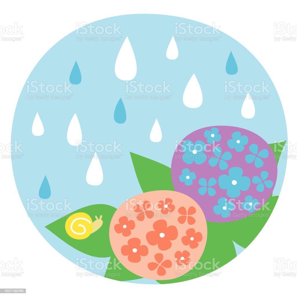 6 月に日本の梅雨 アジサイのベクターアート素材や画像を多数ご用意