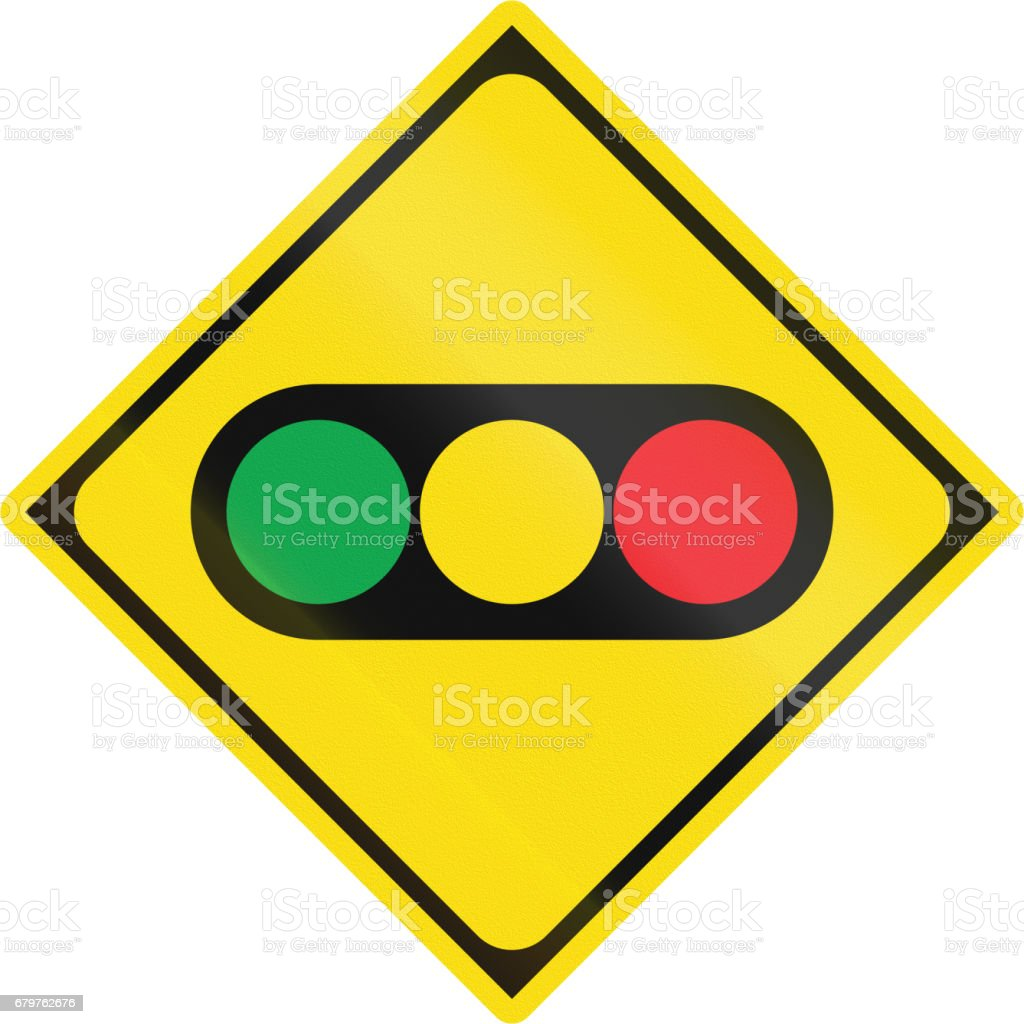 Japanese road sign - Watch out for traffic lights ベクターアートイラスト