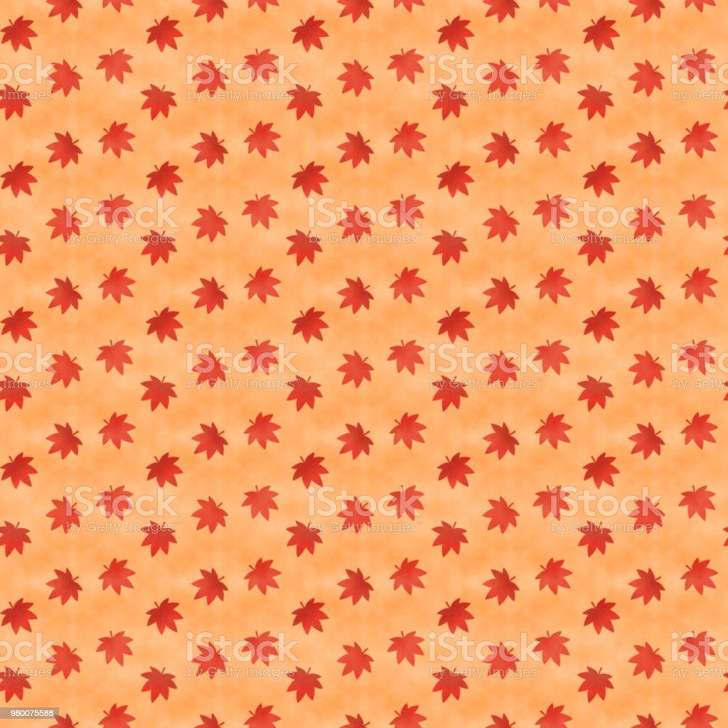 Japanese style maple leaves seamless pattern vector art illustration