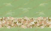 日本のスタイルのお部屋に、パターンの花、シームレスなパターンです。