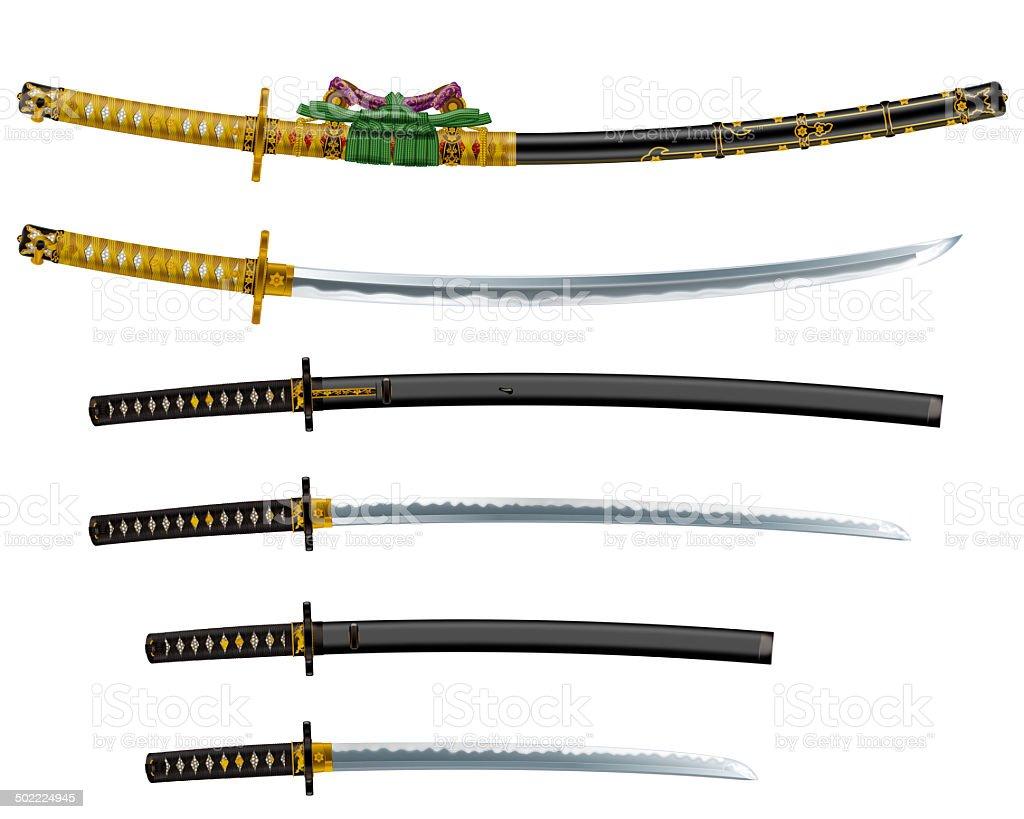Japanese Sword Stock Illustration - Download Image Now - iStock