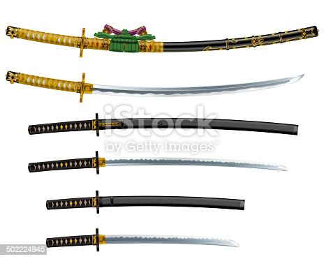 istock Japanese sword 502224945