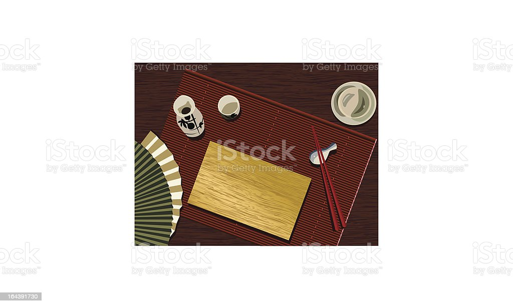 Japanese Table Set Stock Vector Art & More Images of Asia 164391730 ...