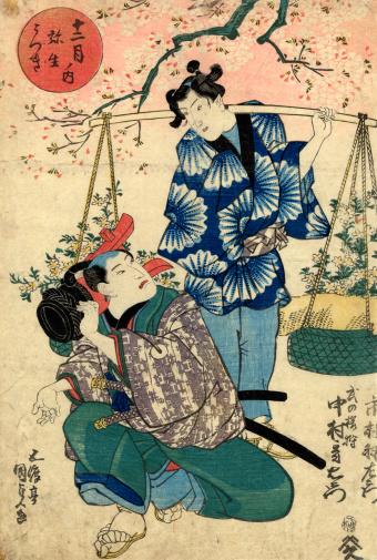Japanese Woodblock of Kabuki actors