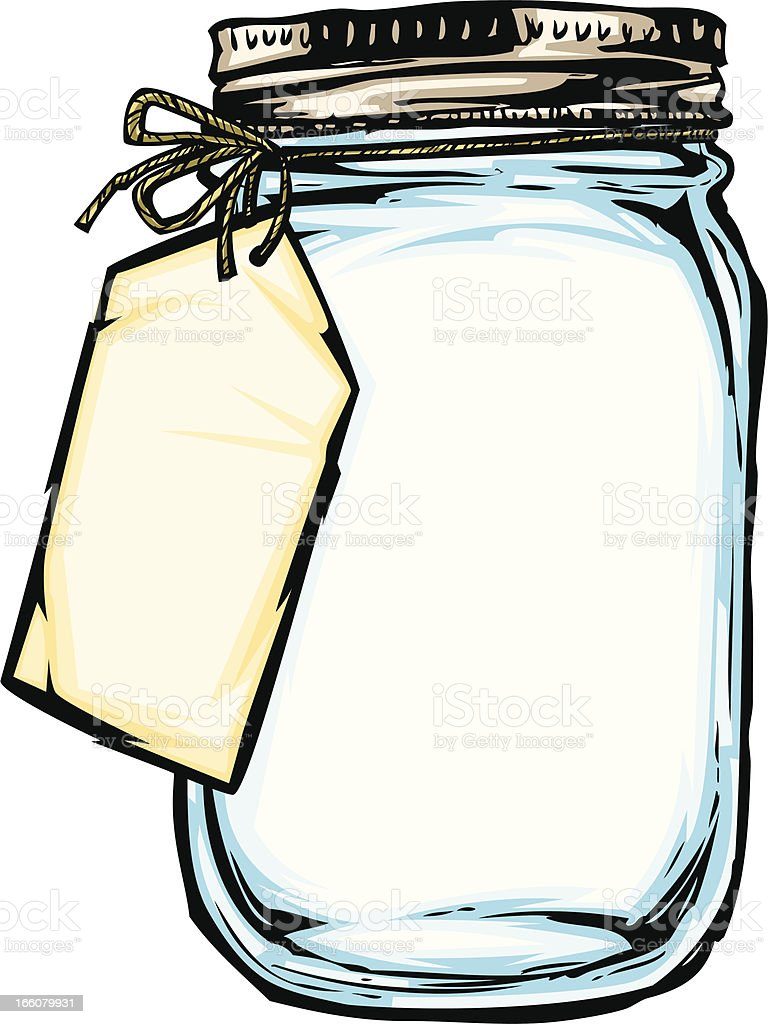 jar with label royalty-free stock vector art