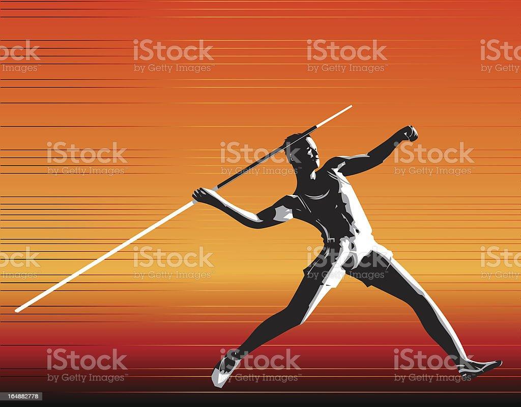 Javelin royalty-free stock vector art