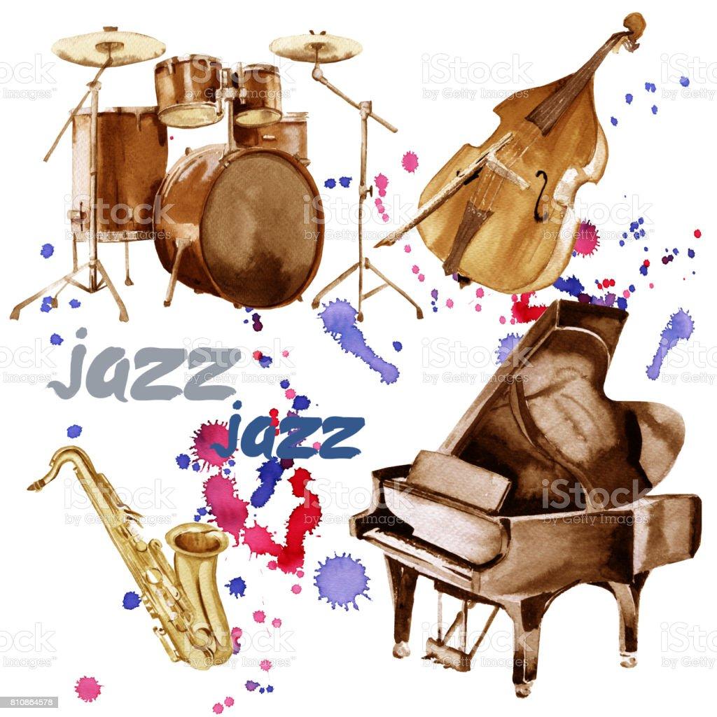 Instrumentos de jazz saxof n piano bater a y contrabajo - Bater roca precios ...