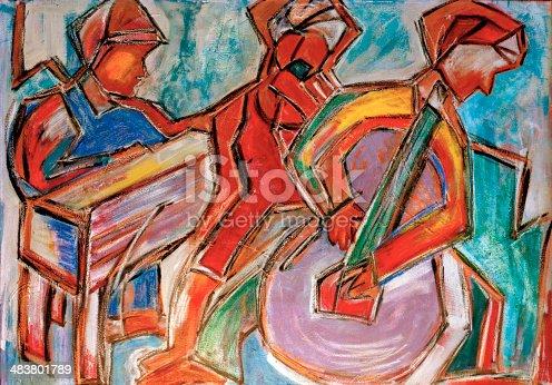 istock Jazz Musicians, Original Painting, Acrylic on Canvas 483801789