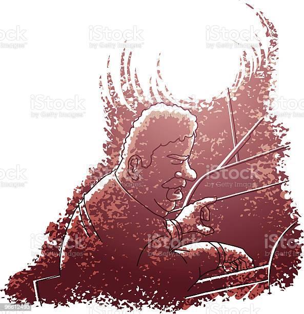 Джаз Пианист — стоковая векторная графика и другие изображения на тему Африканская этническая группа