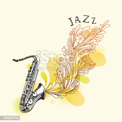 istock Jazz Saxophone Drawing 165930754