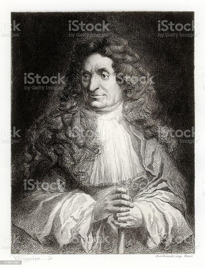 Jean de la Fontaine royalty-free stock vector art