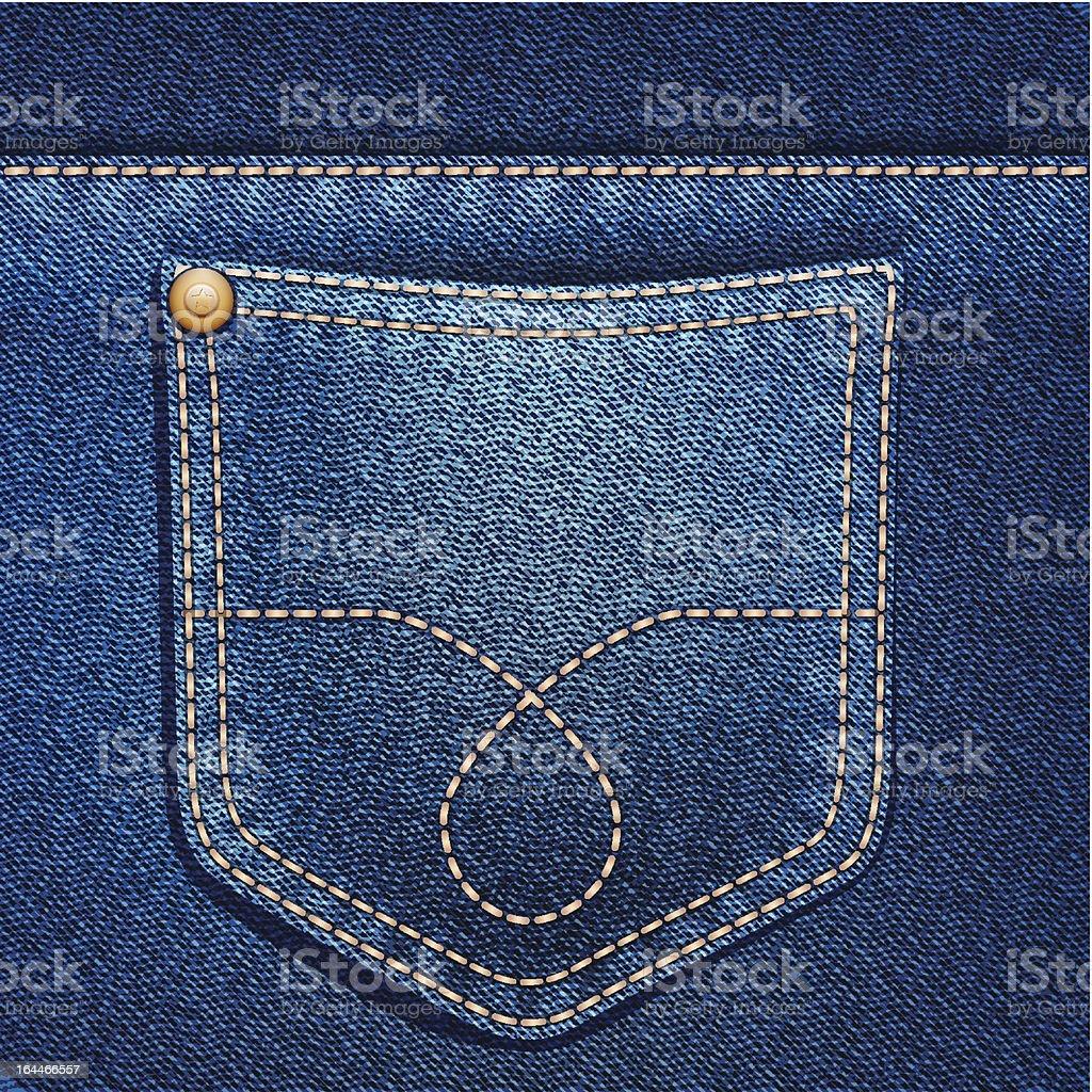 Jeans pocket. Denim background. vector art illustration