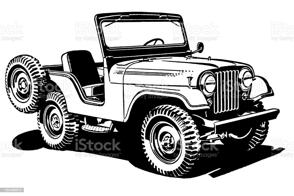 Jeep vector art illustration