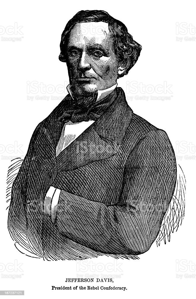 Jefferson Davis royalty-free stock vector art