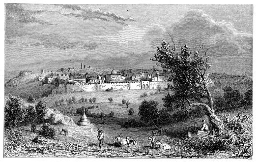 Jerusalem seen from Mount of Olives Israel