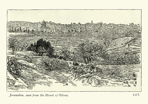 Jerusalem, seen from the Mount of Olives, 19th Century