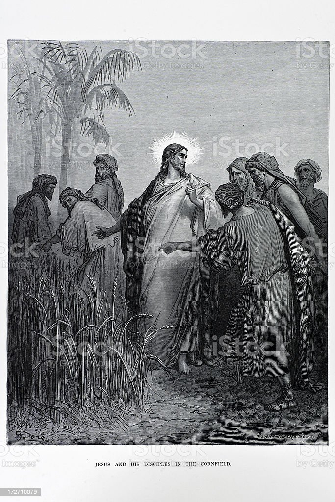 Jesus and his Disciples royalty-free jesus and his disciples stock vector art & more images of 19th century