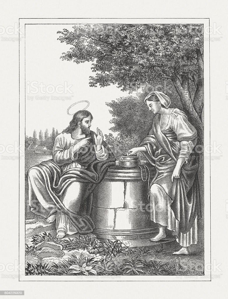 Иисуса и самаритянка женщина, опубликованные в 1850 иисуса и самаритянка  женщина опубликованные в 1850 —