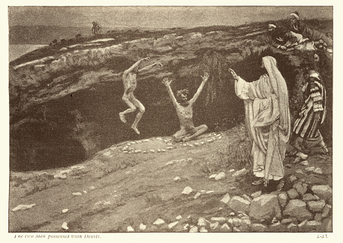 Jesus and the two men possessed with devils