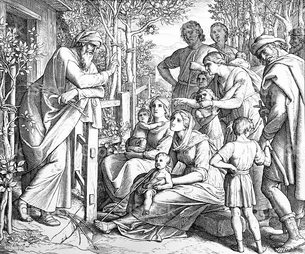 Jesus Ben Sirach vector art illustration