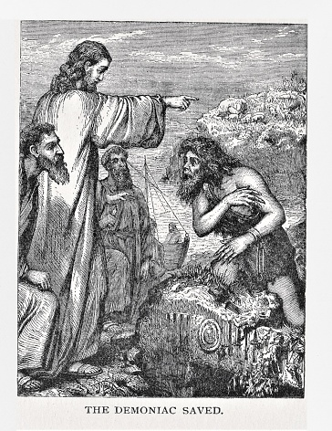 Jesus Casts Demons from Possessed Man