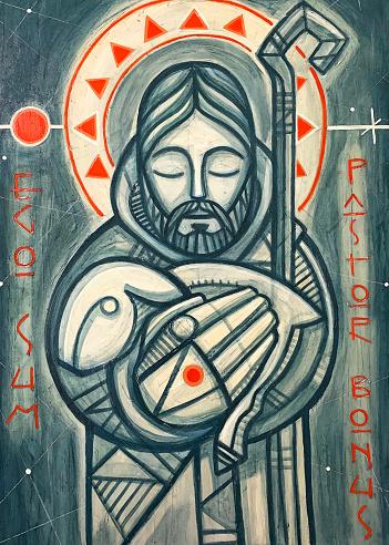 Jesus Christ Good Shepherd artistic painting