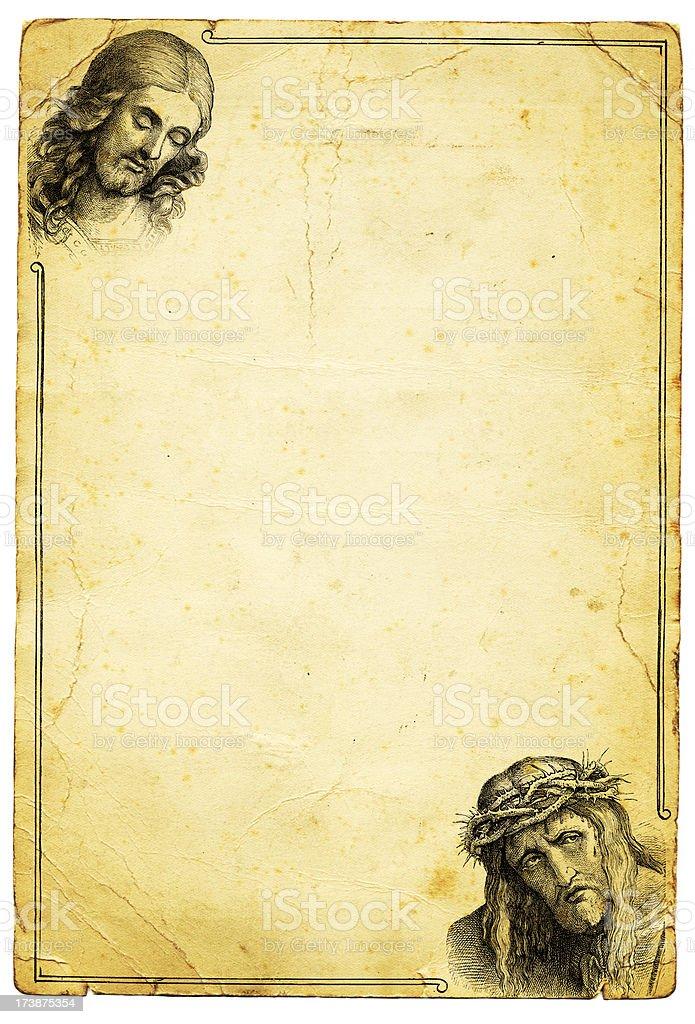 Jesus Christ Grunge Background Frame royalty-free jesus christ grunge background frame stock vector art & more images of ancient